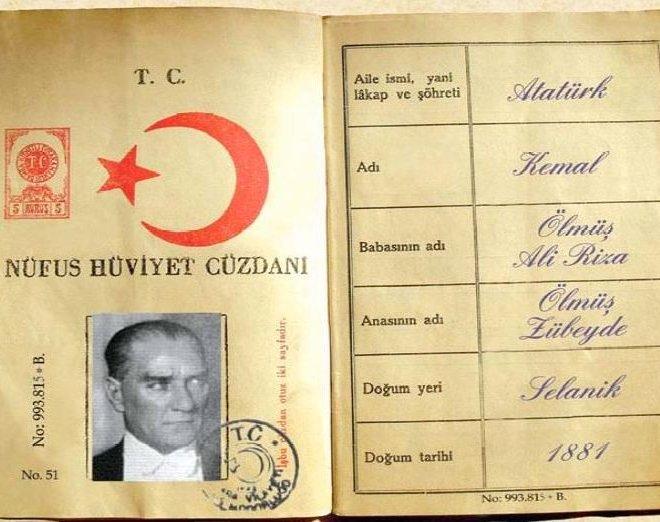 ataturkün-nüfus-cüzdanı